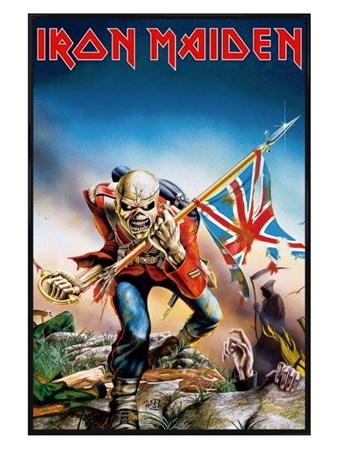 Gloss Black Framed Trooper - Iron Maiden