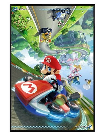 Gloss Black Framed Flip - Mario Kart 8