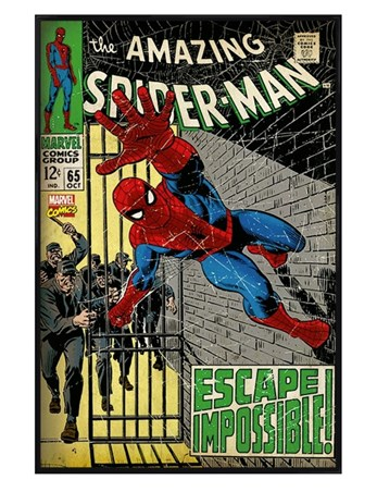 Gloss Black Framed Escape Impossible - The Amazing Spider-man
