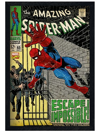 Black Wooden Framed Escape Impossible - Spider Man