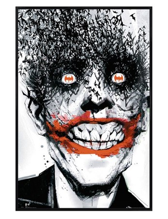 Gloss Black Framed Joker Bats - Batman Comic