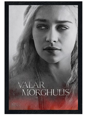 Black Wooden Framed Daenerys - Valar Morghulis - Game Of Thrones