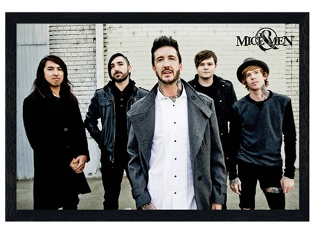 Black Wooden Framed Metalcore Portrait - Of Mice And Men
