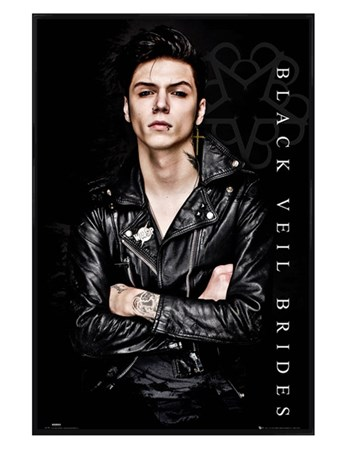 Gloss Black Framed Andy Biersack - Black Veil Brides