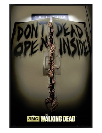 Gloss Black Framed Don't Open, Dead Inside! - The Walking Dead