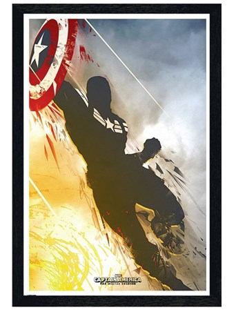 Black Wooden Framed The Winter Soldier - Captain America