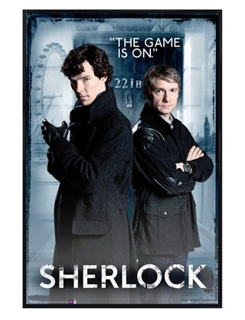 Gloss Black Framed The Game Is On - Sherlock