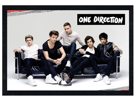 Black Wooden Framed Story Of My Life - One Direction