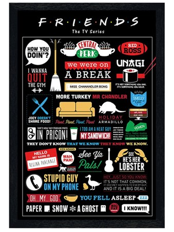 Black Wooden Framed Infographic Framed Poster