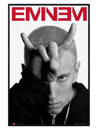Gloss Black Framed Horns - Eminem