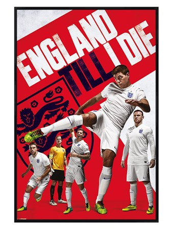 Gloss Black Framed England Till I Die - England Football World Cup 2014