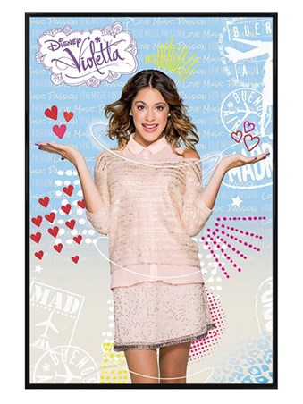 Gloss Black Framed Martina Stoessel is Violetta - Violetta