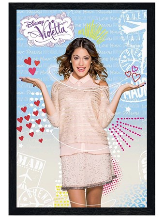 Black Wooden Framed Martina Stoessel - Violetta