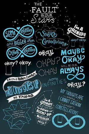 The Fault In Our Stars Typographic - The Fault In Our Stars
