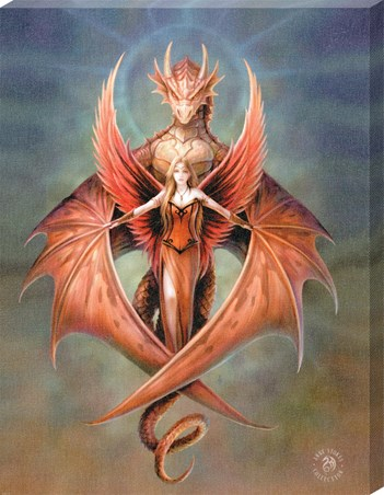 Copper Wing Canvas Print - Anne Stokes