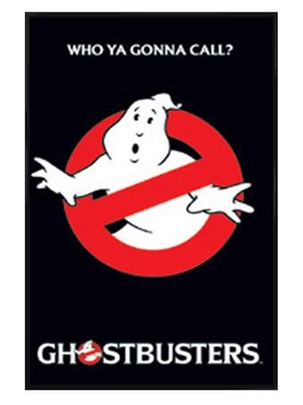 Gloss Black Framed Ghostbusters Logo - Ghostbusters
