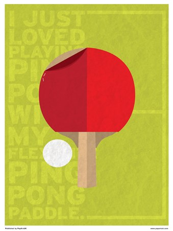 Framed Minimal Movies: Forrest Gump - I Just Loved Playing Ping Pong