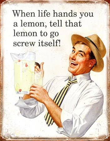 When Life Hands You Lemons - Retro Humour Tin Sign