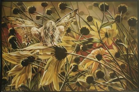 Framed Chameleon Fairy - Sheila Wolk