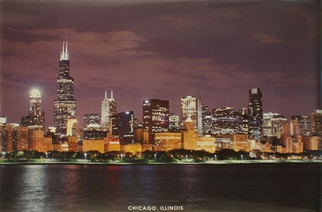 Chicago Skyline - The City at Night