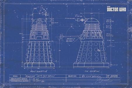 Dalek Blueprint - Doctor Who