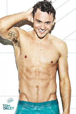 Framed Tom Daley - Shower Time