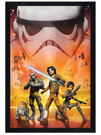 Black Wooden Framed Star Wars Rebels - The Rebels are Ready