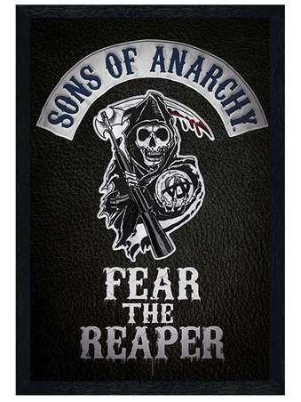 Black Wooden Framed Fear The Reaper - Sons of Anarchy