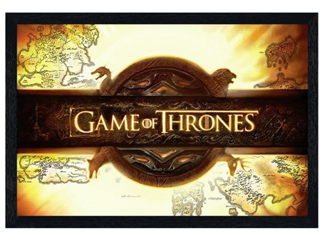 Black Wooden Framed Game of Thrones - Title Card
