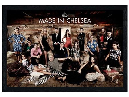 Black Wooden Framed Made In Chelsea - Chelsea Socialites