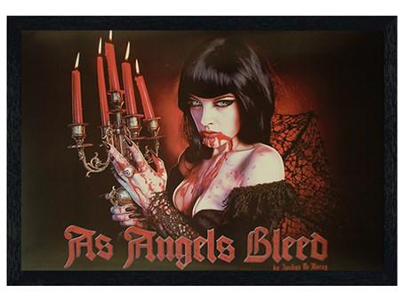 Framed Black Wooden Framed As Angels Bleed - Avelina Demory