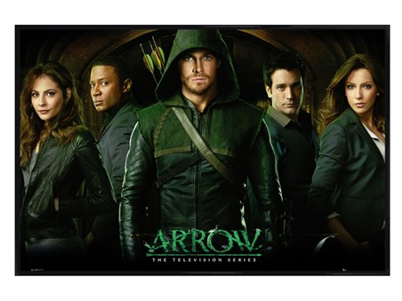 Gloss Black Framed Arrow - The Television Series