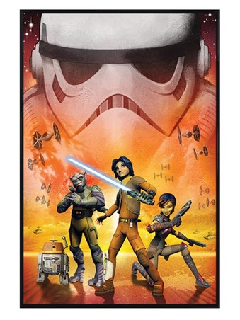 Gloss Black Framed Star Wars Rebels - Ready for Action