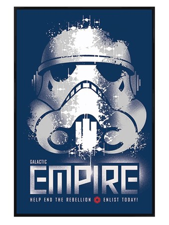 Gloss Black Framed Galatic Empire - Enlist Today! - Star Wars Rebels