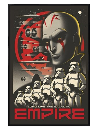 Gloss Black Framed Long Live The Galactic Empire - Star Wars Rebels