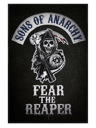 Gloss Black Framed Fear The Reaper - Sons of Anarchy