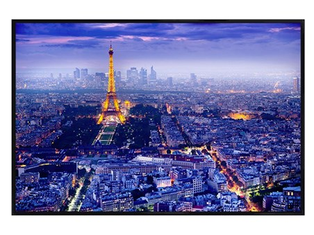 Gloss Black Framed View Over Paris - Eiffel Tower