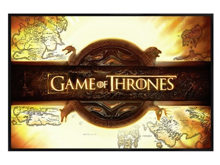 Gloss Black Framed Game of Thrones - Title Card