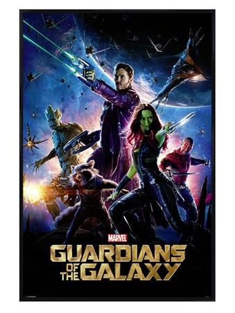 Gloss Black Framed Guardians Of The Galaxy - Marvel