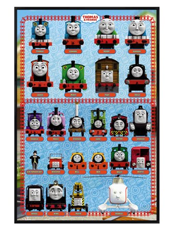 Gloss Black Framed Thomas & Friends - Character Profiles