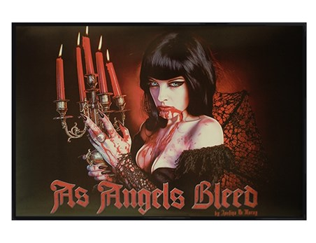 Gloss Black Framed As Angels Bleed - Avelina De Moray