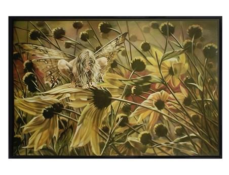 Gloss Black Framed Chameleon Fairy - Sheila Wolk