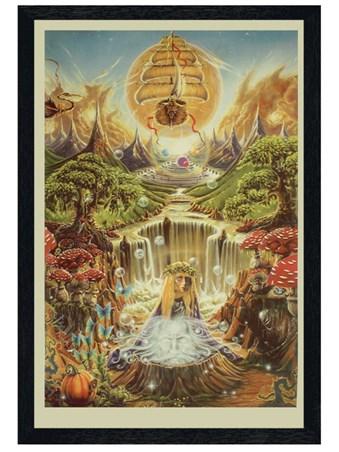 Black Wooden Framed Labyrinth Falls - Mystical Lands