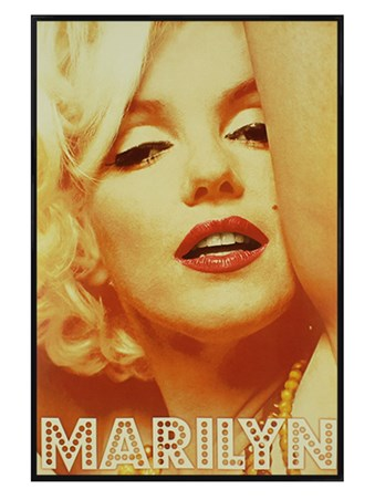 Gloss Black Framed Marilyn In Lights - Show Time