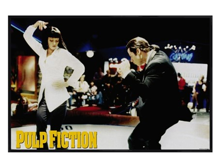 Gloss Black Framed Jack Rabbit Slim's - Pulp Fiction