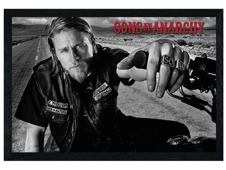 Black Wooden Framed Jackson - Sons of Anarchy