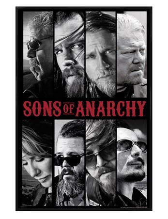 Gloss Black Framed Sons of Anarchy Collage - Bikers Rule