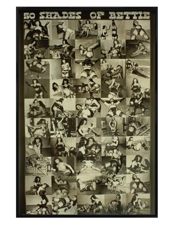 Gloss Black Framed 50 Shades of Bettie - Bettie Page