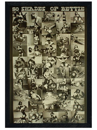 Black Wooden Framed 50 Shades of Bettie - Bettie Page