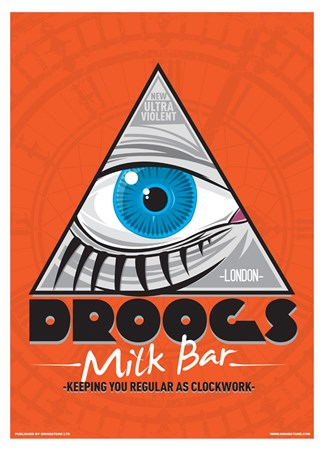 Droogs Milk Bar Mini Poster - Inspired By Clockwork Orange